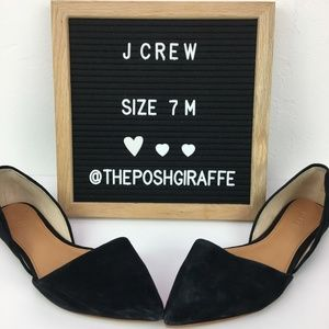 J Crew Factory Zoe suede d'Orsay flats Size 7 M